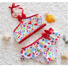 Colorful printing Custom Toddler Bikini Little Girls Swimwear Models