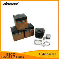 High Quality Garden Tools Gasoline 58CC Chainsaw Spare Parts Cylinder Kit