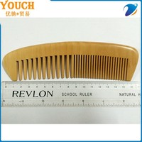 17cm decorative hair combs Peach material Nature color hair wood comb,difference wide teeth wooden beard comb,popular comb