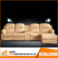 latest products living room furniture european design l shaped electric recliner leather corner sofa
