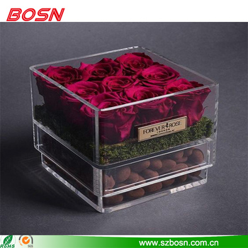 Designed specifically clear acrylic elegant & beautiful flower box