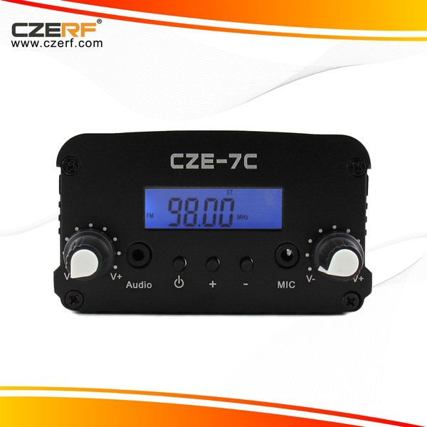 CZE-7C 7W Stereo PLL Car Audio Transmitter radio station equipment for sale