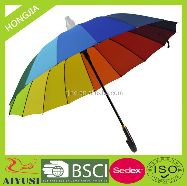 special advertising rainbow drip umbrella for promotional transparent drip cap