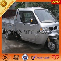 Chinese cargo tricycle with steering wheel/Tengtian three wheel motorcycle on sale