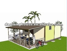 Gargen/Park Small Prefab Modular House with Canopy/Rainshed