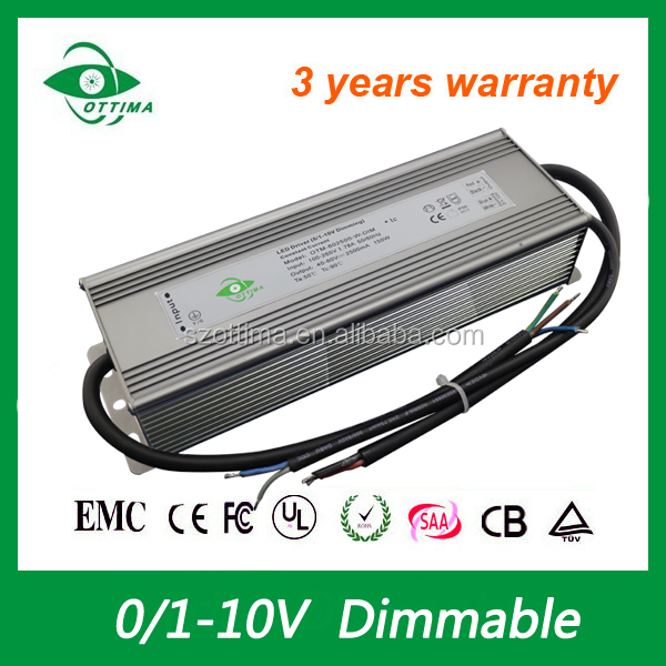 150w 0 10v dimmable led power supply 100-265Vac single output 700mA