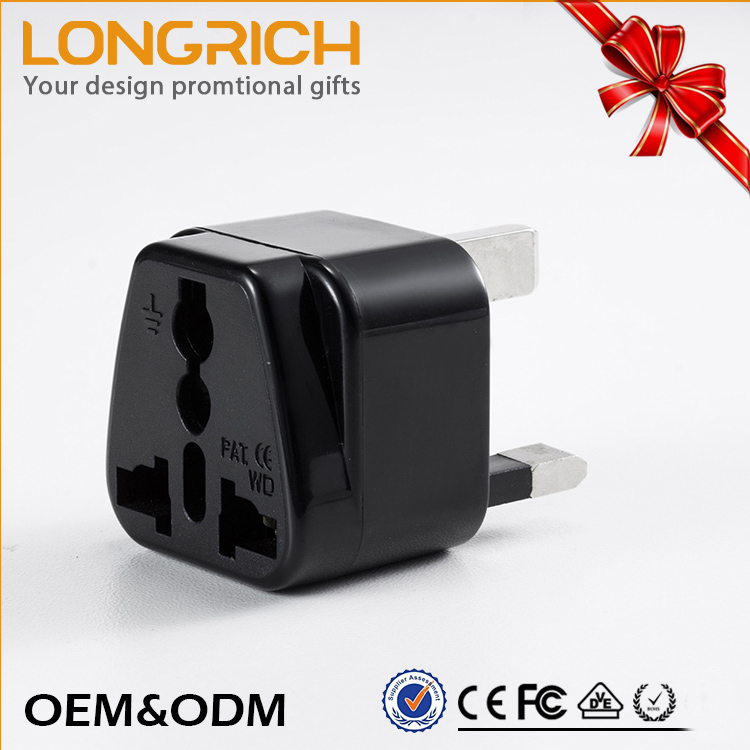 Hot Sell Wholesale Portable Multipurpose 16A 250V UK male to male electrical plug adapter