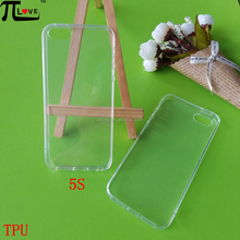 Wholesale blank transparent soft tpu cell phone case for iphone 5S