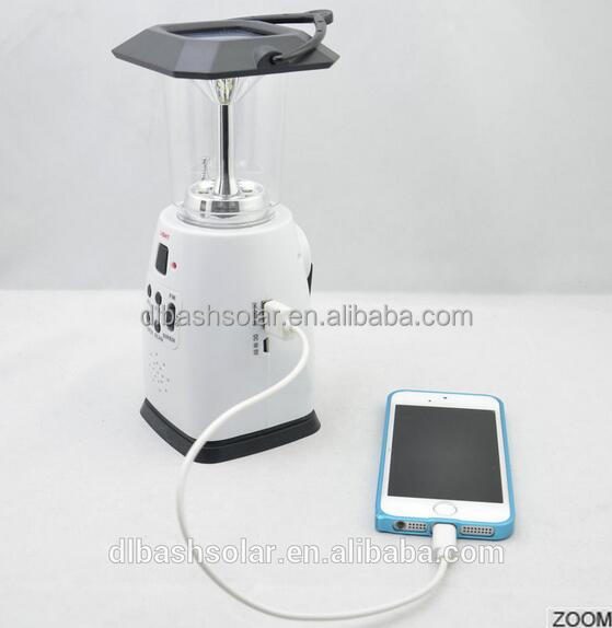 solar power and emergency crank solar lantern &solar chargers power emergency crank solar lantern FM Radio solar