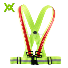 High Visible Elastic Exercise led reflective flashing safety sporting running belt vest
