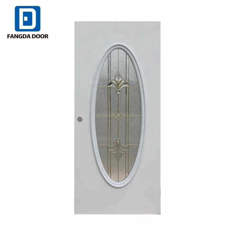 Fangda Best Price Big Oval Glass Door Insertsexterior Glass Door