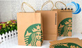 Brown kraft starbucks paper packaging bag