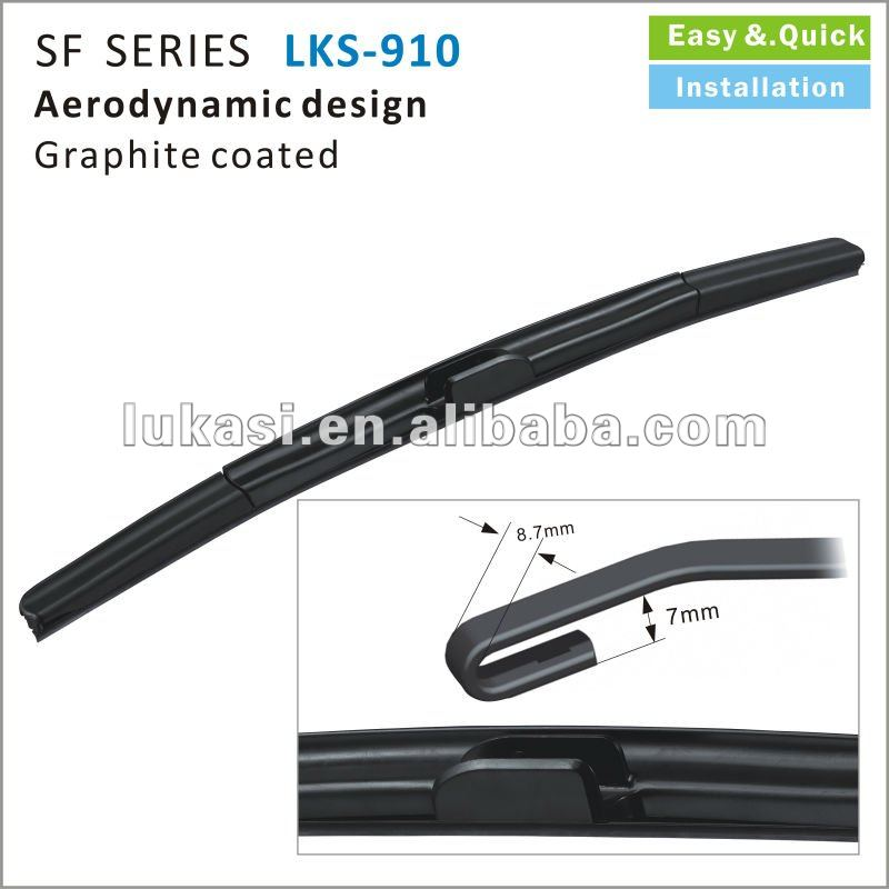 Silicone windscreen wiper blade Superior performance and good value