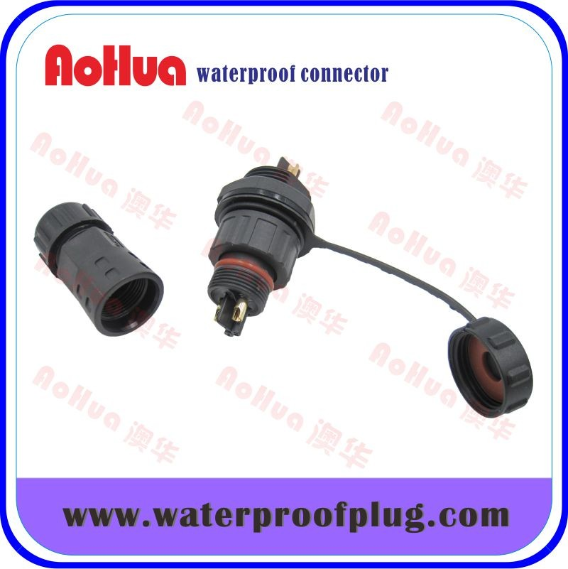2pin waterproof connector for light socket adapter plugs