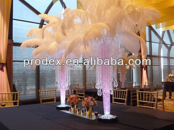 PARTY DECORATION BLACK AND WHITE OSTRICH PLUMES FEATHERS FOR WEDDING CENTERPIECE