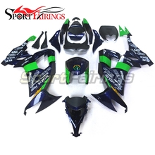 POWER1 Blue Green Motorcycle Fairings For Kawasaki Ninja ZX10R ZX-10R 08 09 10 2008 2009 2010 ABS Injection Plastic Covers