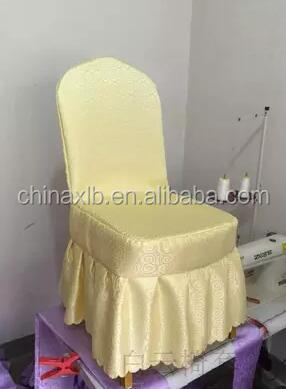 back pleated and rufflued spandex chair cover/cheapest nylon banquet seat