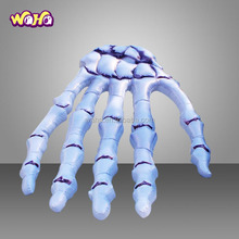 White inflatable skeleton hand/event halloween decoration/halloween event decoration