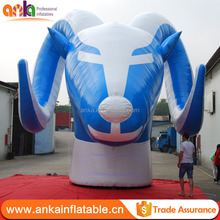 Custom made advertising large replica inflatable ram model , inflatable cow head for sale