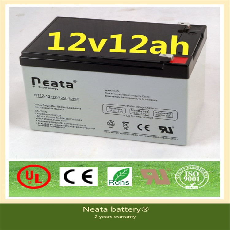 Neata golf car battery manufacturers 12v 12ah electric motor battery