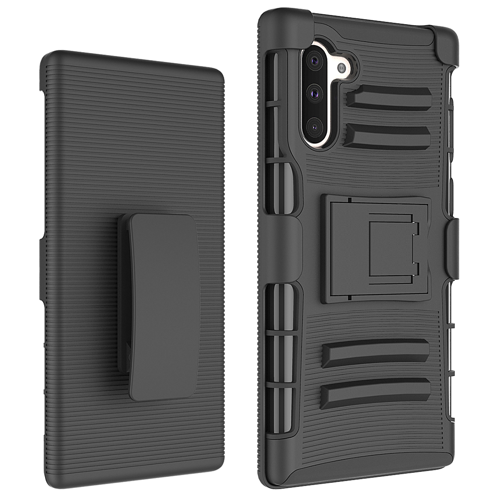 Belt Clip Heavy Duty TPU PC Kickstand Phone Case for Samsung Note 10 Plus