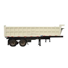3 Axle used end tipping dump trailers 60ton 45cbm for sale