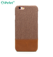 New Design Hybrid Plastic PU Leather Back Covers Case For iPhone 6/s