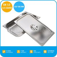 Good Quality Stainless Steel Food Tray with Lid