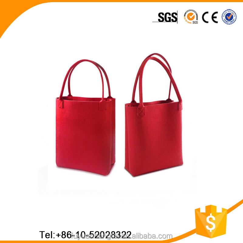 2016 ECO- Friendly fashion bag hand carry bag felt shopping bags