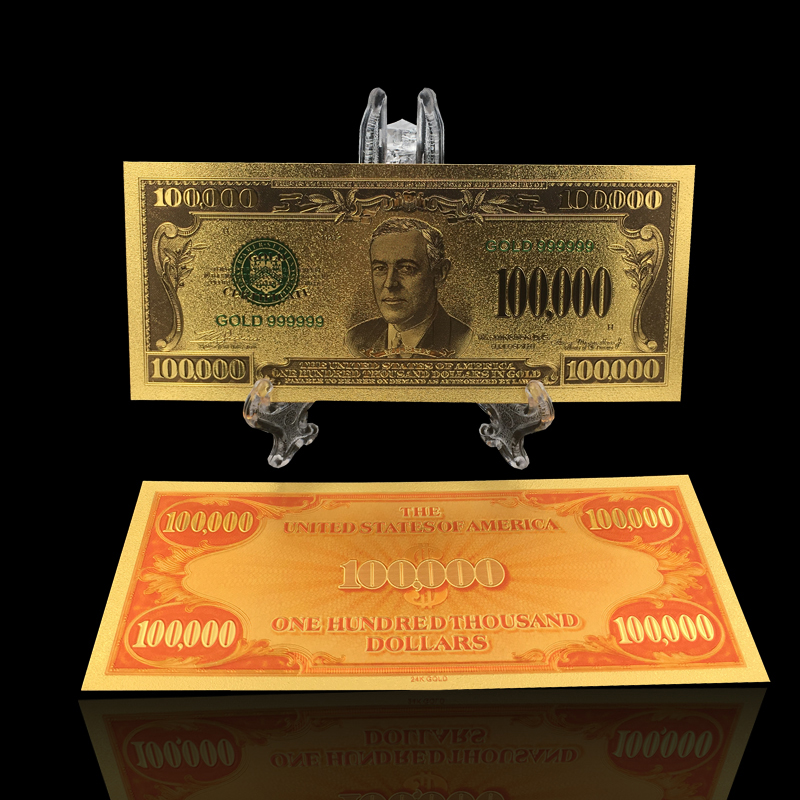 Amerikanischen Präsident Trump bunte Gold Banknote 1 Millionen ...