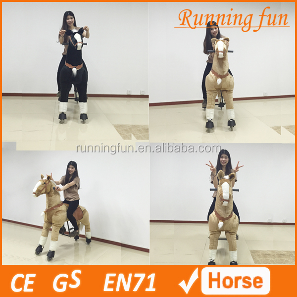 2016 new design best selling ride toys mechanical walking horse