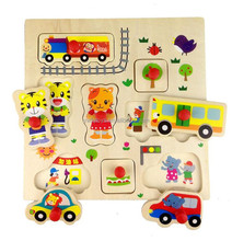 custom wooden drawing board DIY 3D magnetic jigsaw wooden puzzle games set