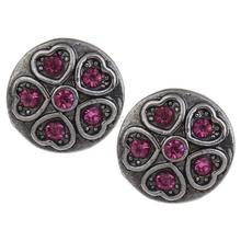 New jewelry jewel Snap Button Zinc Alloy Flat Round 1136508