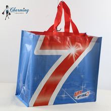 Newest sale OEM quality blue shopping pp woven t-shirt bag