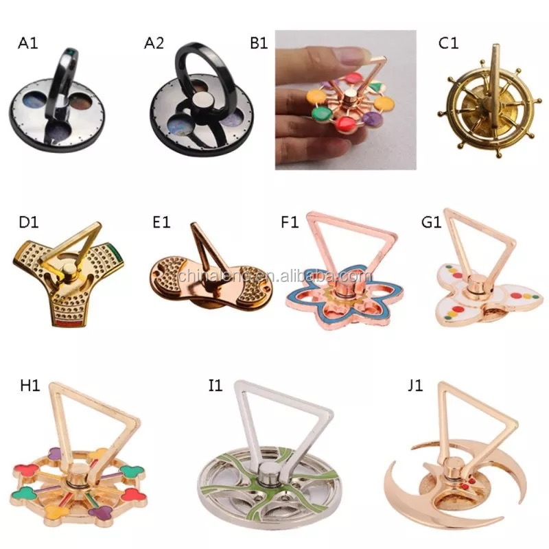 good quality new typemobile support hand spinner toys holder mobile phone ring holder spinner