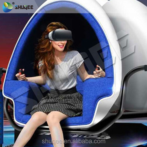 Interactive 1080p Full HD Virtual Reality 360 Degree 9D VR Egg Cinema Simulator