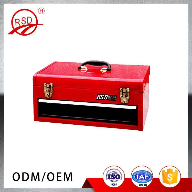 Metal tool box with one drawer portable tool cabinet small handy tool chest