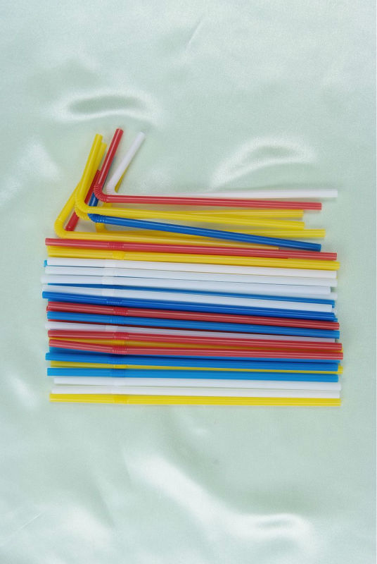 Compostable PLA flexible drinking straw in bulk