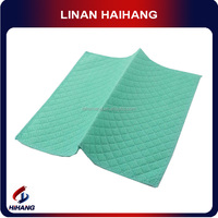 China Green Big Diamond Needle Punch Nonwoven Cleaning Cloth novelty cleaning cloth