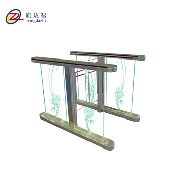 China CPSE exhibition access control rfid card reader swing barrier gate operator