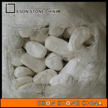 Eson Stone white color pebbles stone, river rock pebbles for garden path and swimming poor