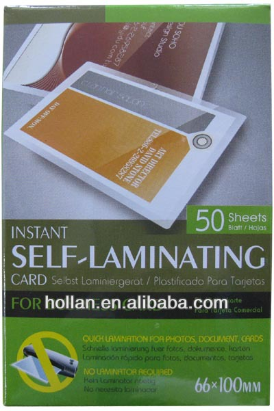 One Doller Items Self Laminating Business Card