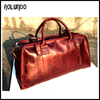 2015 high quanlity mens leather travel bag duffle bag