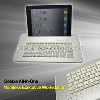 All In One Bluetooth Keyboard For Ipad Air/Ipad 4/Ipad 3 Tablet PC Built in Bluetooth Speaker With Microphone