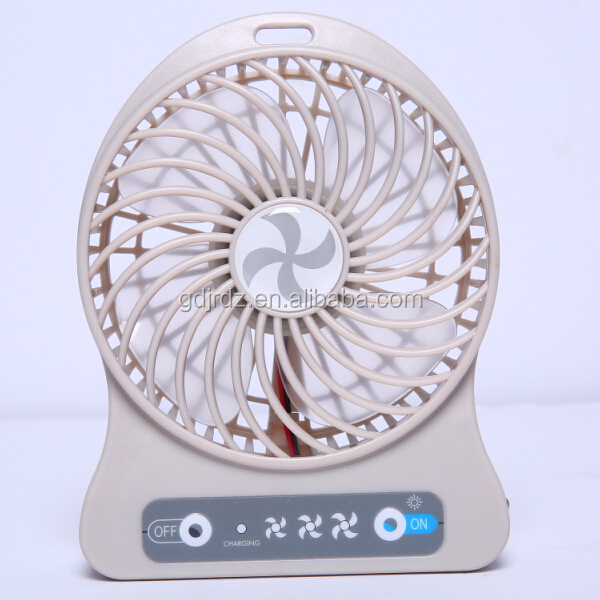JRHT-CF1 plastic air battery power portable cooling travel handheld usb small mini rechargeable fan