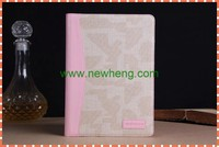 wholesale jean flip leather case with stand for ipad5, wallet leather case for ipad mini