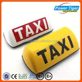 taxi waterproof full color outdoor led lighted sign taxi