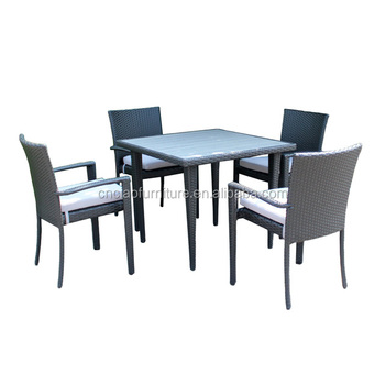 4 seater outdoor dining furniture sets table insert plastic wood