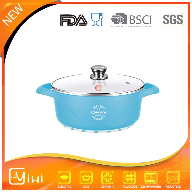 wave series 20 cm ceramic stockpot