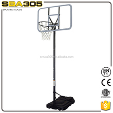 basketball competition system with solid steel break away basketball rim